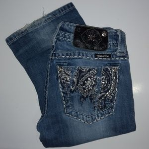 Miss Me Distressed Boot Cut Jeans Size 26
